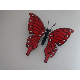 Arqitecture Animal Papillon Déco Murale Rouge Décoration Maison