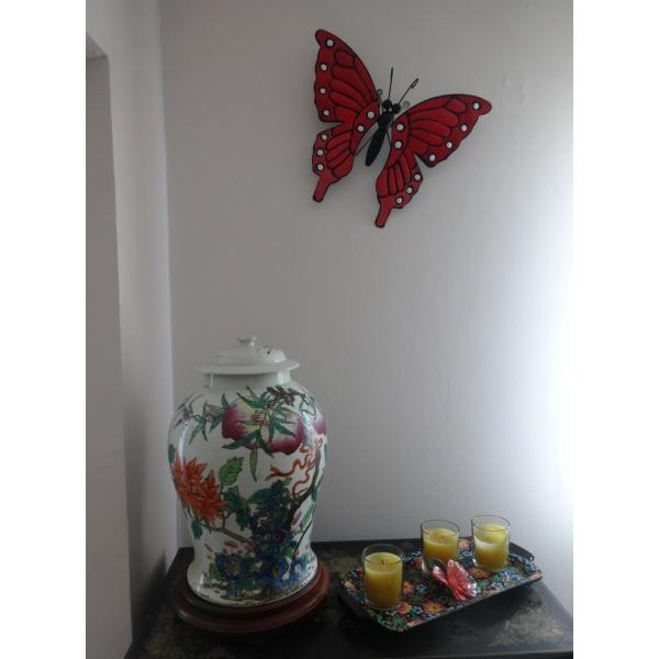 arqitecture animal papillon d co murale orange jaune d coration maison. Black Bedroom Furniture Sets. Home Design Ideas