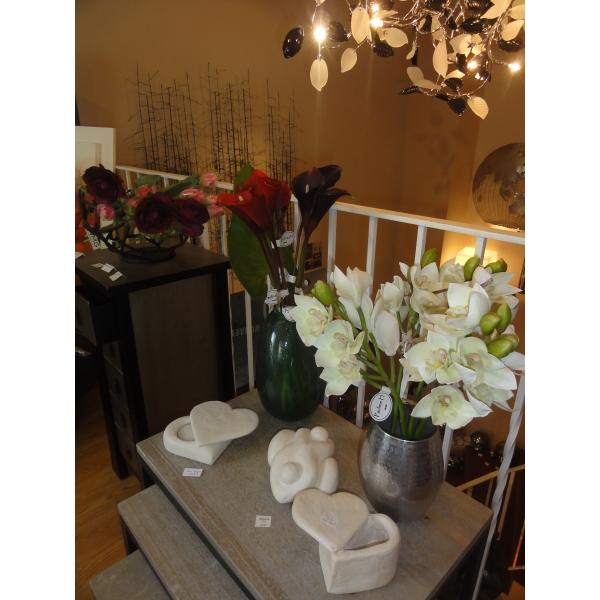 Arqitecture bois fleurs orchid e blanche for Decoration maison feng shui
