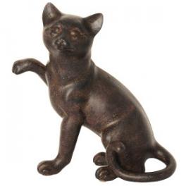 Statue Chat comique, Résine marron