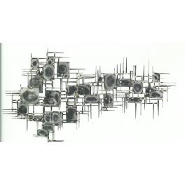 Tableau sculpture Carect, Acier inoxydable