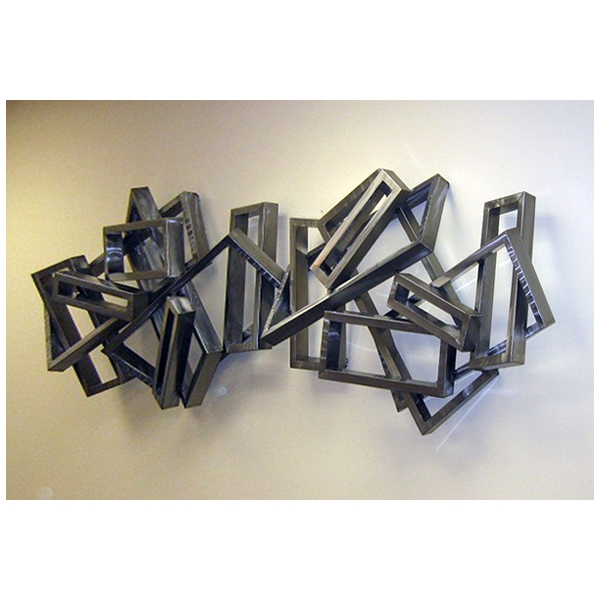 Arqitecture metal tableau rectangles 3d d coration Objet decoration murale design