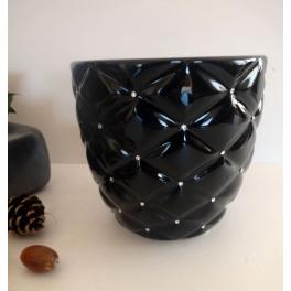 Vase noir brillant, Céramique