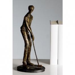 Statue golfeur, Résine bronze