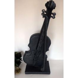 Sculpture Violon, Résine noire