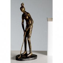 Statue golfeuse, Résine bronze