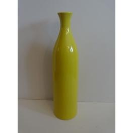 Vase grande bouteille jaune