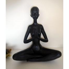 Statue Zena, Résine noire