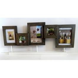 Porte photos x5 en bois wengé