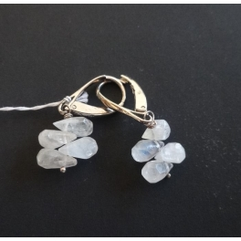 Boucles d'oreilles pendantes, Pierre de Lune