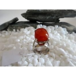 Bague Agate Rouge