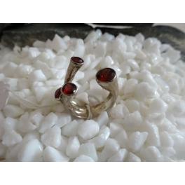 Bague oeils Multi-pierres rouge