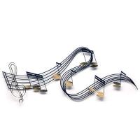 Arqitecture m tal inox fer note de musique cl for Decoration murale note de musique