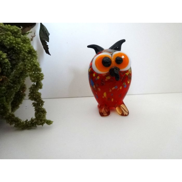 Arqitecture animaux verre hibou d coration for Objet deco animaux