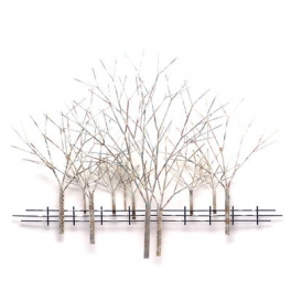Tableau sculpture Arbre d'hiver, Acier inoxydable