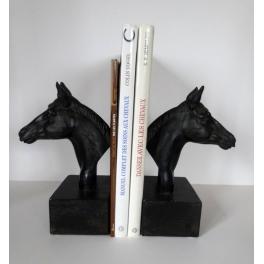 Serre livres Cheval, Résine noire