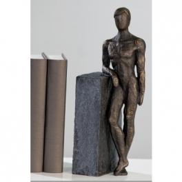 Homme nu statue, Résine doré