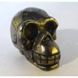 Crâne en Pyrite
