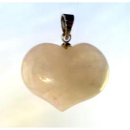 Pendentif Coeur, Quartz rose