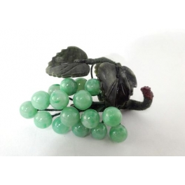 Grappe de raisin verte, en Jade