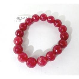 Bracelet boule, Agate rouge