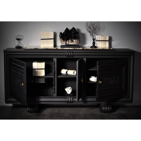 marbre noir parement bois mobilier accueil design et mobilier. Black Bedroom Furniture Sets. Home Design Ideas