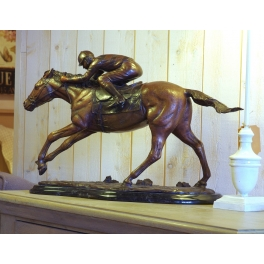 Cheval de course et son jockey, Bronze