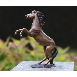 Cheval cabré sculpture, Bronze