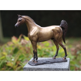 Cheval Arabe sculpture, Bronze