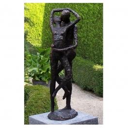 Sculpture couple enlacés, Bronze