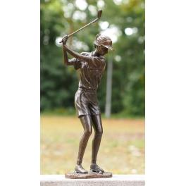 Statue golfeuse, Bronze