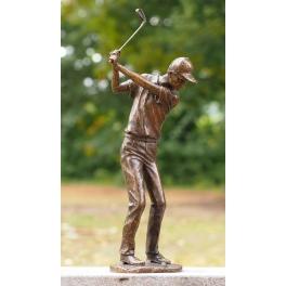 Statue golfeur, Bronze