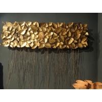 arqitecture m tal d coration murale feuilles d coration feng shui. Black Bedroom Furniture Sets. Home Design Ideas