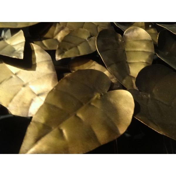 Arqitecture m tal d coration murale feuilles for Decoration murale feuille