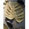 Feuille Monstera sculpture murale, Métal doré