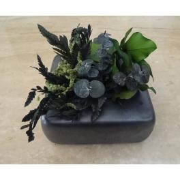 Cadre végétal stabilisé, Céramique gris