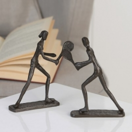 Sculpture Tennis couple, Fer