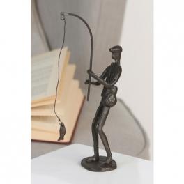 Sculpture pêcheur, Fer