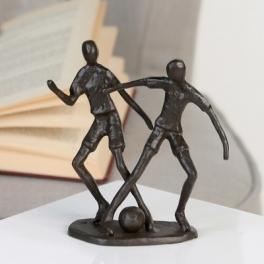 Sculpture footballeurs, Fer