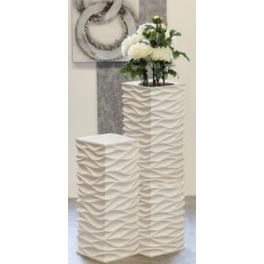 Bac à fleurs carré blanc Design