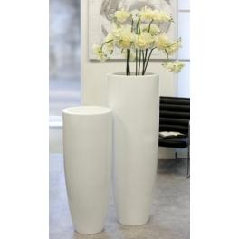 Bac à fleur conique blanc