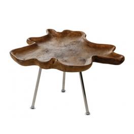 Grande table d'appoint bois et métal