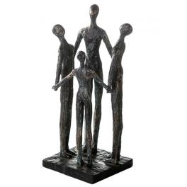 """Sculpture Hommes """"Tous ensemble"""", Résine doré"""