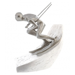 Skieur dans virage, Résine