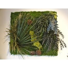 Cadre végétal stabilisé carré