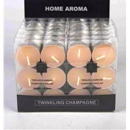 set de 6 bougies chauffe-plat CHAMPAGNE