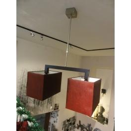 Lampe de toit double