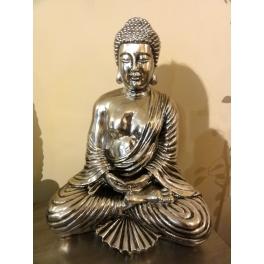 Statue de Bouddha, Résine argenté