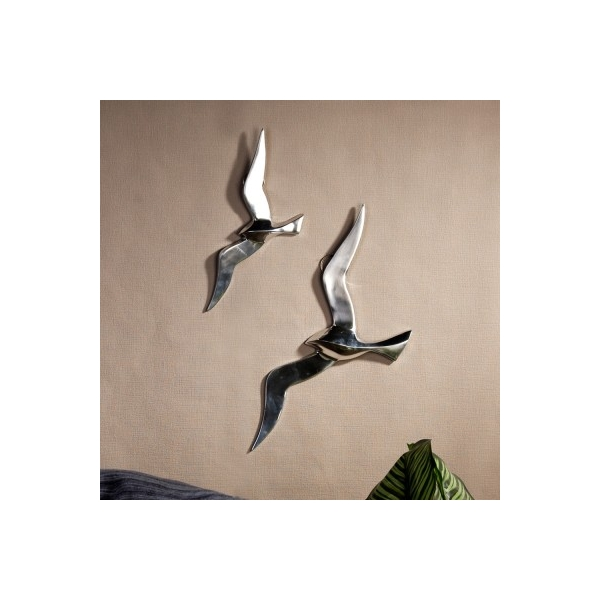 Arqitecture animaux oiseau aluminium d coration for Decoration murale oiseau 3d