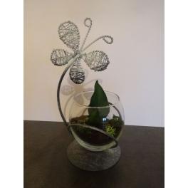 Vase boule Papillon stabilisé